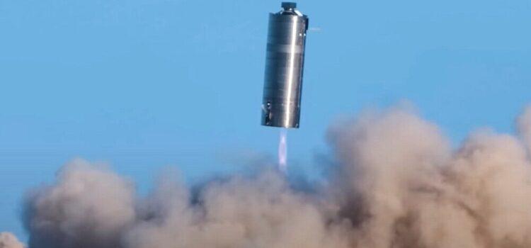 Zobacz na filmie lot dużego prototypu statku Starship od SpaceX [FILM]